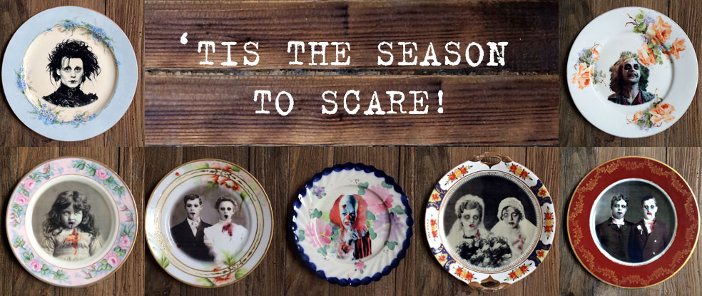 Halloween Altered Plates