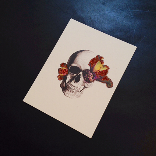 Blooming Skull Card